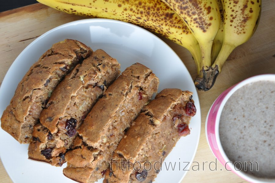 Healthy Banana Bread (Sugar-Free, Fat-Free)