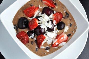 Healthy Cocoa Ice Cream (Gluten-Free, Sugar Free)