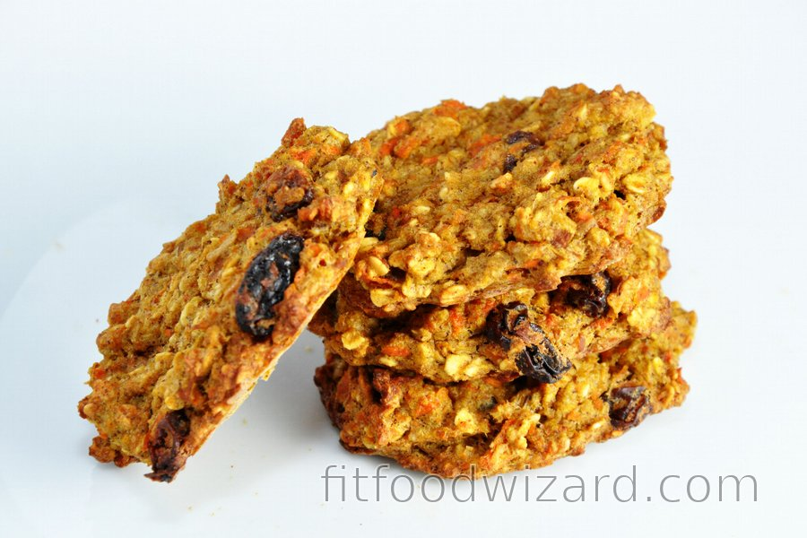 Carrot and Apple Fit Cookies or Bread without Flour, Sugar and Fat