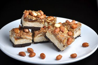 Healthy Homemade Snickers Bars