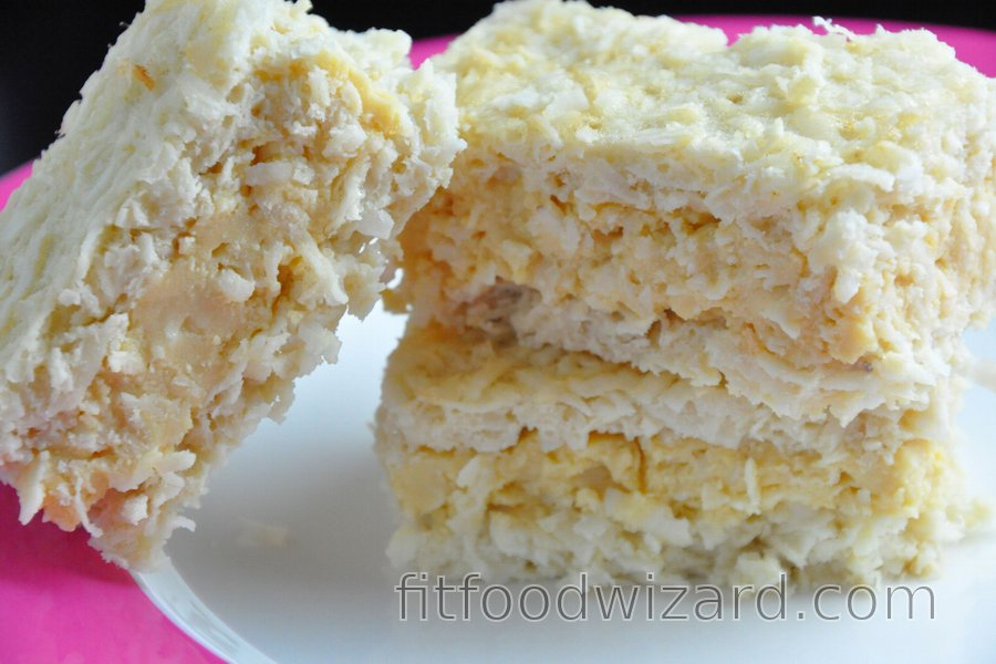 Coconut Cake with Egg Yolk Pudding (Gluten-Free)