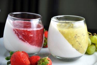 Healthy Coconut Cream Fruit Jelly