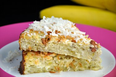 Healthy Coconut-Banana Cake (Sugar-Free and Gluten-Free)