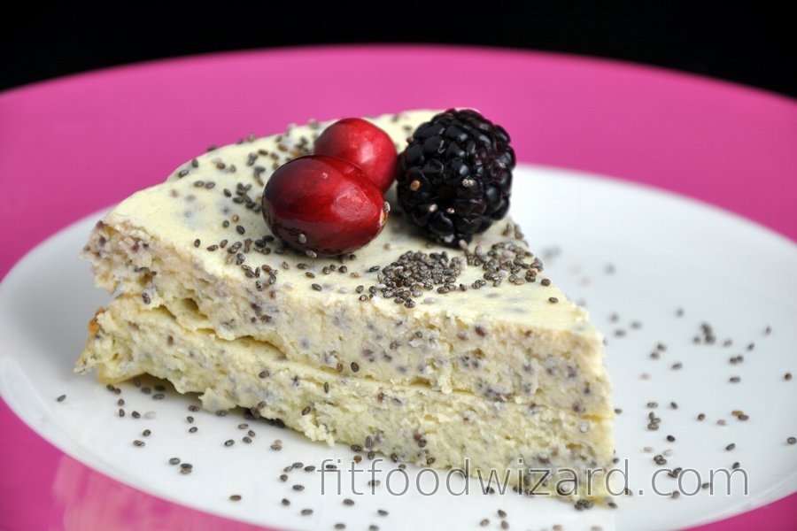 Cottage Cheese Cake With Poppy Or Chia Seeds Gluten Free Fitfoodwizard Com