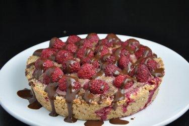 Raspberry Cake with Avocado-Cocoa Filling (Gluten-Free)