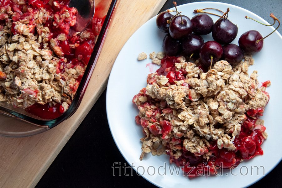 Healthy Cherry-Lemon Crumble