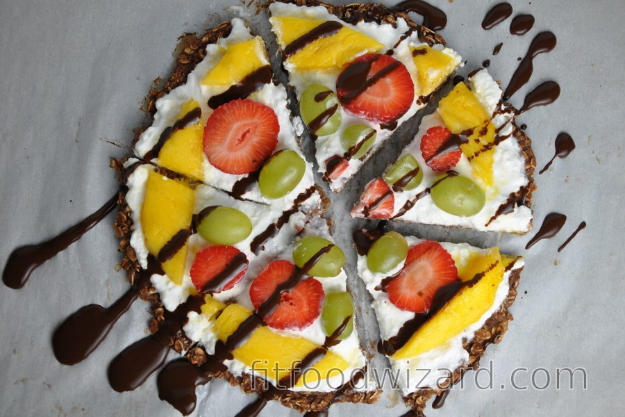 Healthy Oatmeal Fruit Pizza