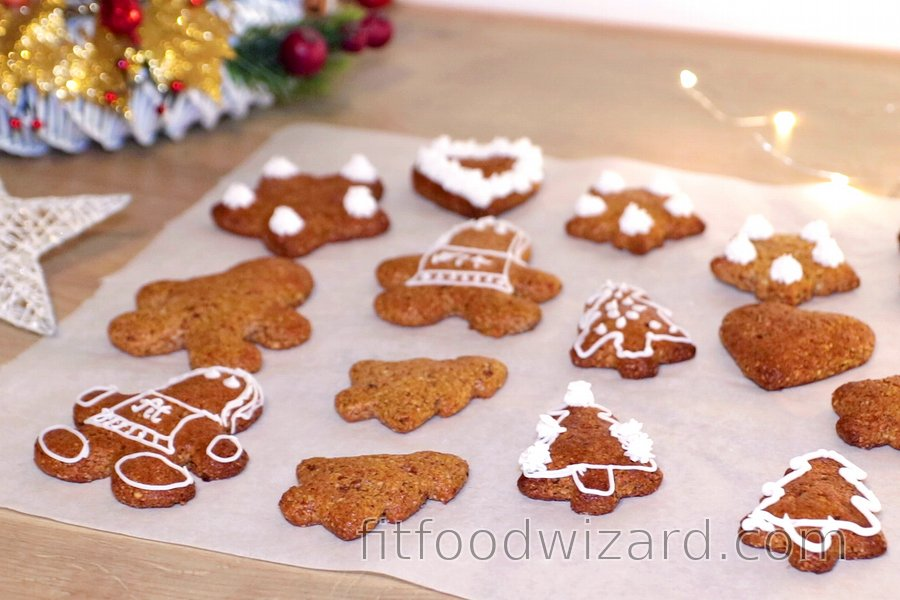 Protein Flourless Gingerbread Cookies