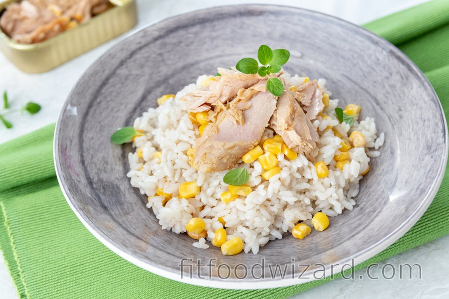 Fit Tuna Rice with Corn