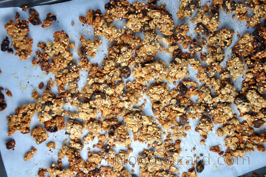 Healthy Homemade Granola (Muesli) from Oats, Buckwheat and Quinoa