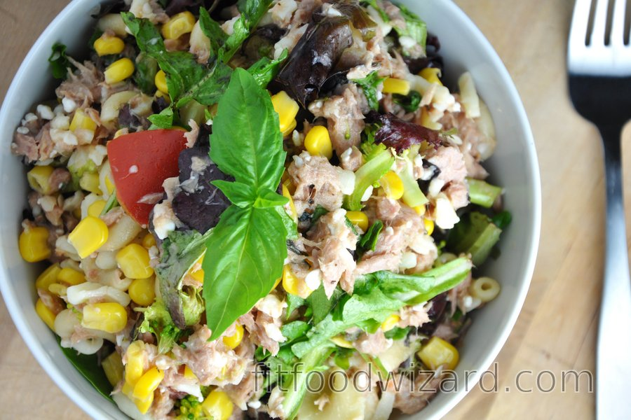 Fit Vegetable Pasta Salad with Tuna