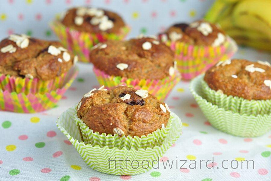 Healthy Banana Oatmeal Muffins Recipe