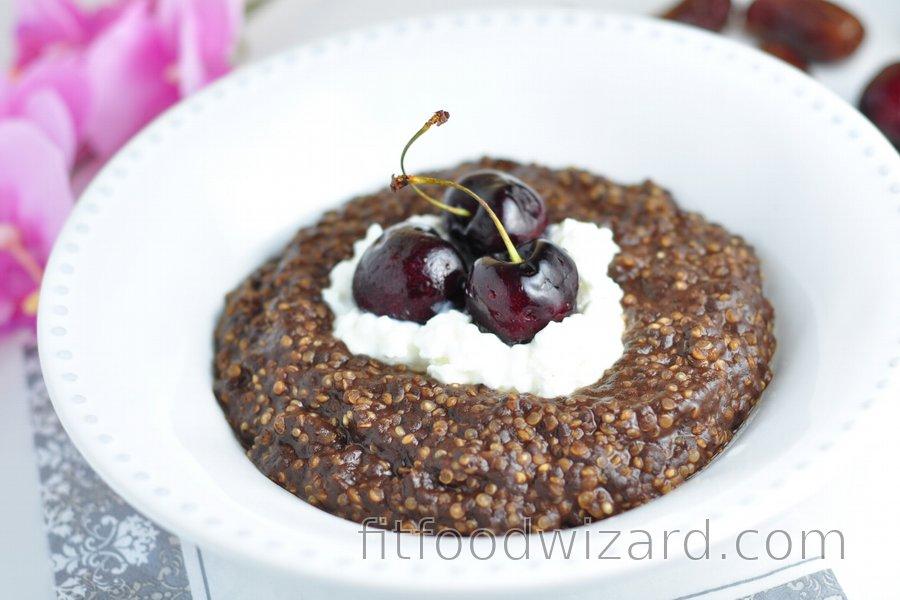 Quinoa Porridge with Coffee and Cocoa