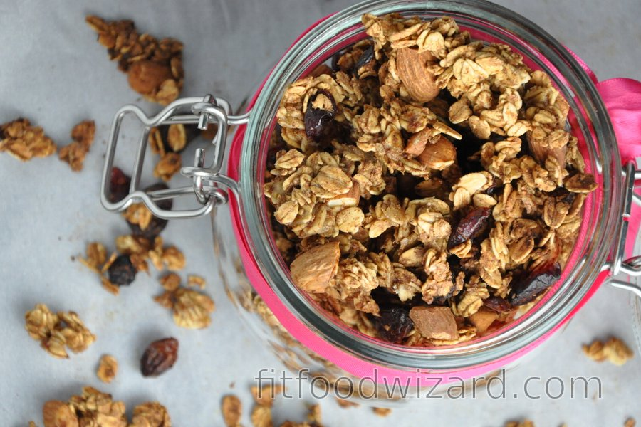 Crunchy Baked Granola (Oil-free and Sugar-free)