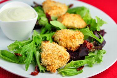 Simple baked chicken nuggets in yogurt crust