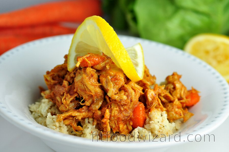 "Low Carb Chicken Breasts with Carrot and Cauliflower ""Rice"""