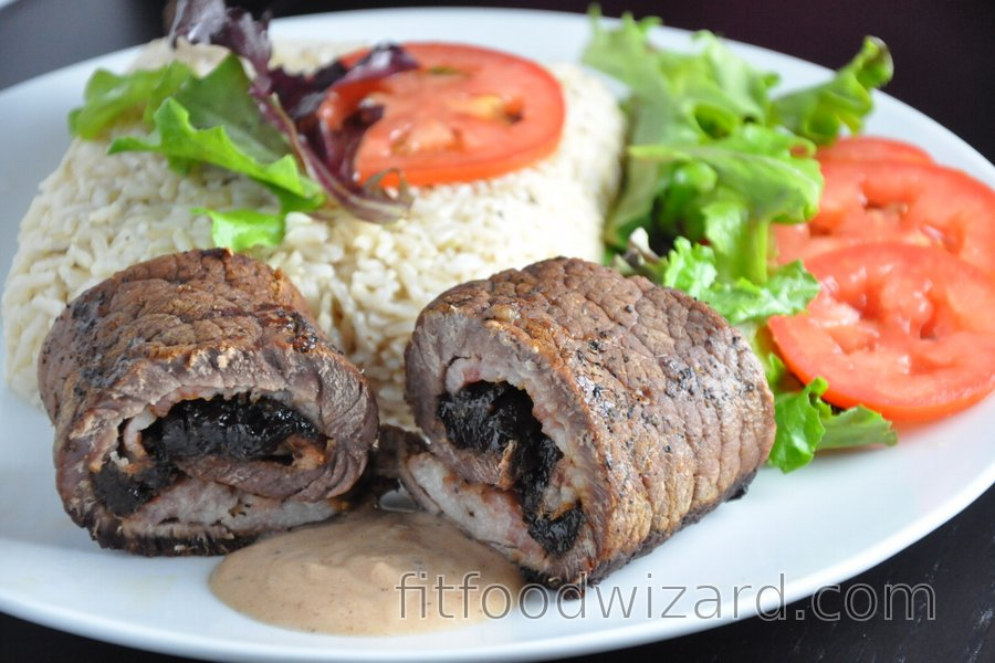 Beef Rolls with Dried Plums