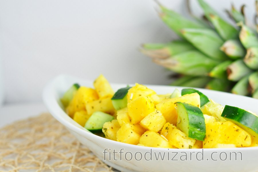 Refreshing pineapple-cucumber salad
