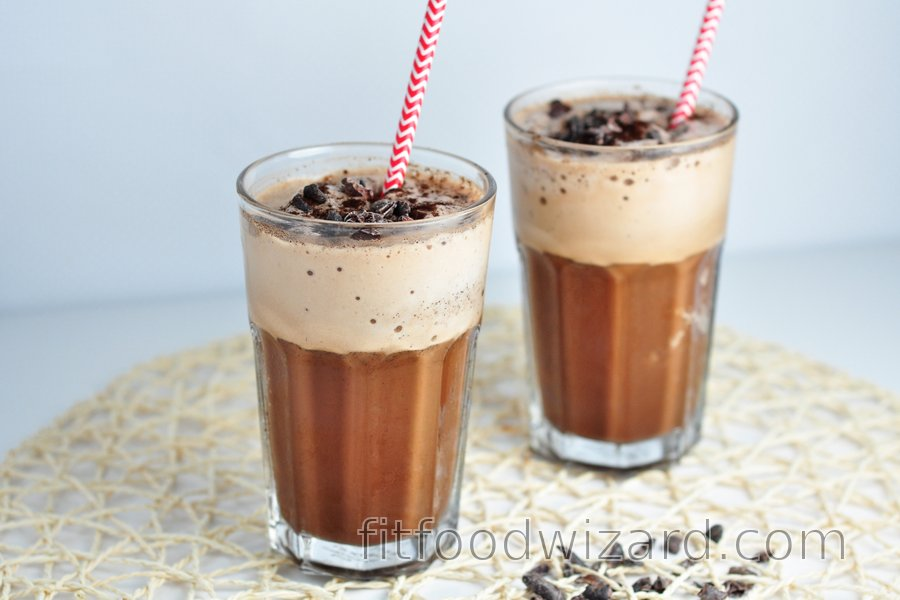 Refreshing mocha protein shake