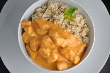 Turkey Breast Pieces in Creamy Tomato Sauce