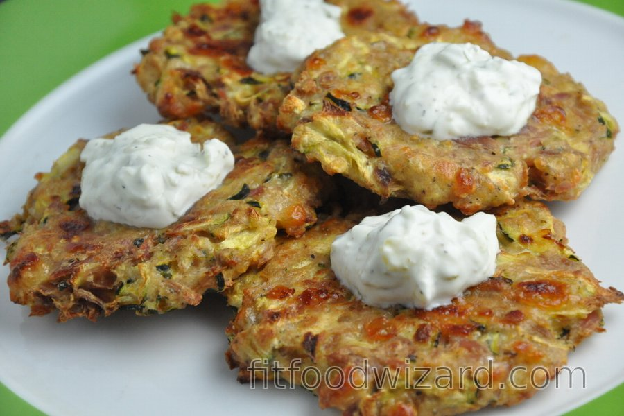 Healthy Baked Zucchini-Tuna Fritters (Gluten-free)