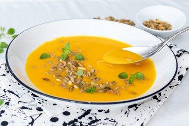 Simple Hokkaido pumpkin soup