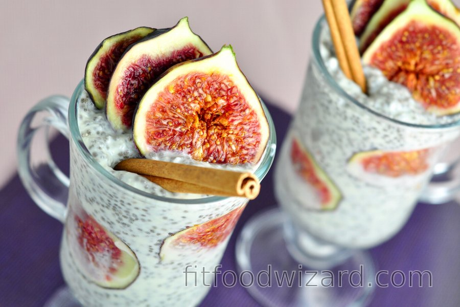 Healthy Fig Chia Seed Pudding with Coconut