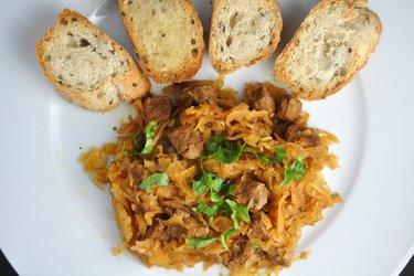 Beef Stew with Sauerkraut