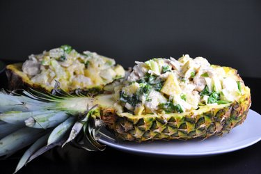 Fitness Chicken Breasts with Pineapple in Cheese Sauce