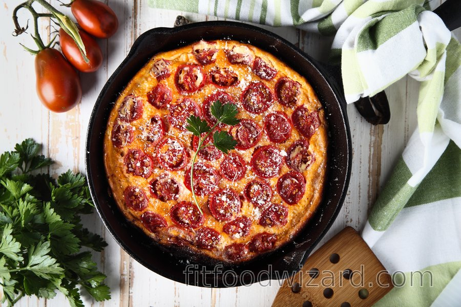 Low-carb tomato frittata