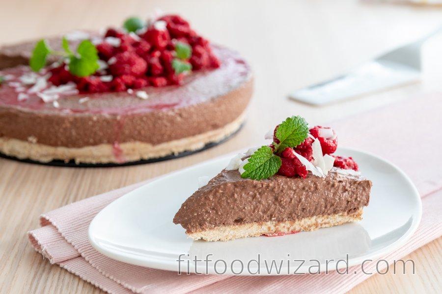 No-bake fitness chocolate cheesecake
