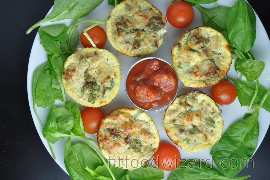 Healthy Egg Muffins with Tuna