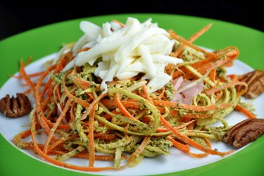 "Carrot-Parsley ""Noodles"" with Basil Pesto"