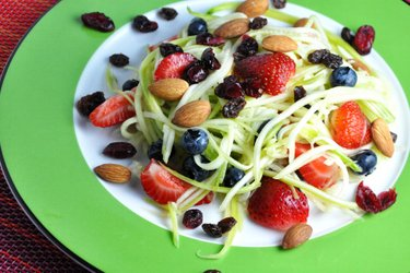 Light Zucchini-Fruit Salad with Lime Dressing