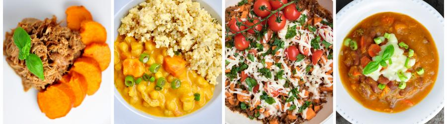 Healthy Sweet Potato Recipes for Dinner and Lunch