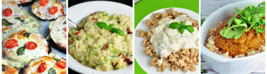 Healthy Vegetarian Dinner and Lunch Recipes - Meatless